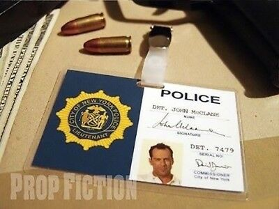 Die Hard - John McClane NYPD Police Warrant Prop / Cosplay ID Card