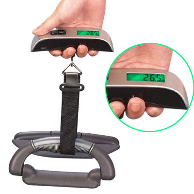 New Portable Travel Tare 110lb 50kg Hanging Digital Suitcase Luggage Scale weigh