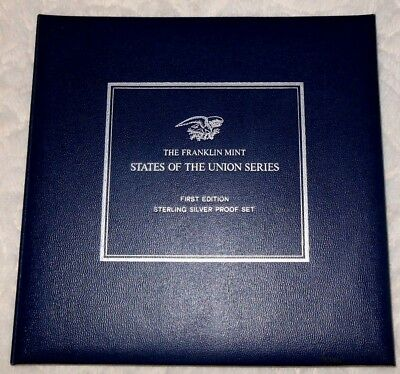 The Franklin Mint States of the Union Series: 1st Edition Sterling Silver PF Set