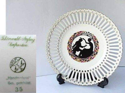 Art Deco Porcelain Plate,Hand Painting,Breakthrough Made,1920s Years G517