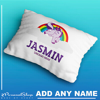 Personalised Pillowcase Kids Unicorn Printed Gift Custom Made Print 403