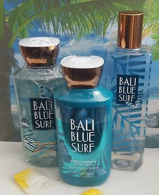 bath and body works bali blue surf body lotion shower gel fine fragrance mist
