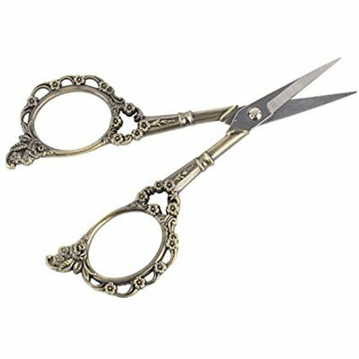 Vintage Scissors European Style Plum Blossom For Embroidery, Craft, Sewing And