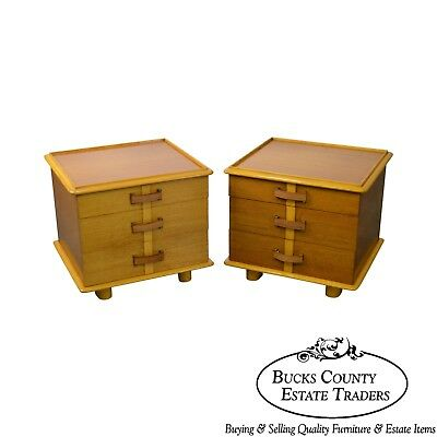 """Paul Frankl for Johnson Furniture Pair """"Station Wagon Nightstands"""" (B)"""