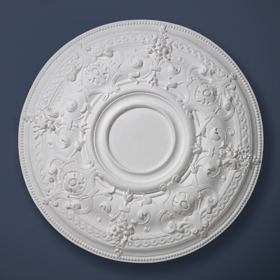 "Plaster Ceiling Rose Flat Middle Leaf 740mm/ 29"" Handcrafted"