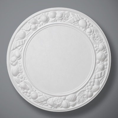 "Plaster Ceiling Rose Modern Large Fruit 610mm/ 24"" Handcrafted"