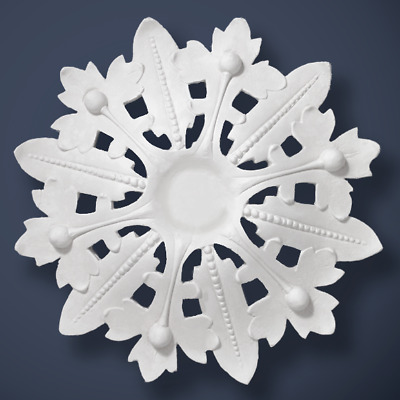 "Plaster Ceiling Rose Victorian 'The Alexandra' 460mm/ 18"" Handcrafted"