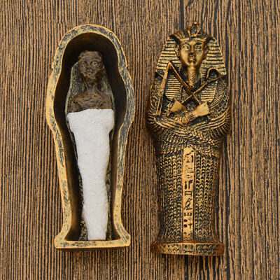 Egyptian Mummies Figure Mummy in a Sarcophagus Resin Statue Home Ornament Gift