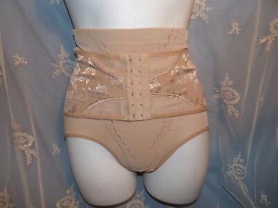 Beautiful Control Panty w/corset front dk tan w/embroidery 30-32