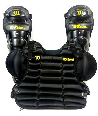 Wilson Umpire Kit A3480 Shin Guards AND Chest Guard Velcro Shoulders