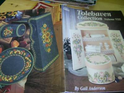 Tolehaven Collection Painting Book #8 (VIII)-Anderson-Roses/Christmas Holly & Ro