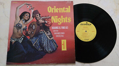 KHAMIS EL FINO ALI Oriental Nights *ORIGINAL STEREO LP MONITOR LABEL 1975 USA*