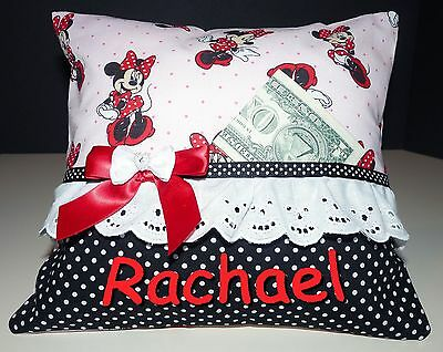 "NEW Personalized Tooth Fairy Pillow Minnie Mouse 10"" x 10"""