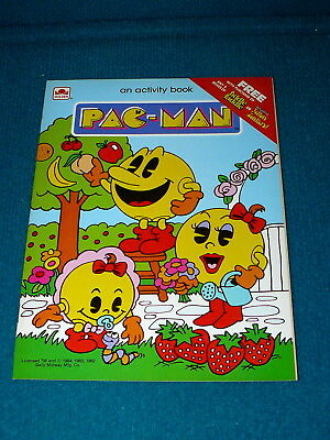 Vintage! PAC-MAN video game ACTIVITY BOOK @ Bally Midway 1984 Promo COLORING
