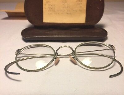 Vintage AO American Optical Ful-Vue Eyeglasses Army Military Issue w/ Case WWII