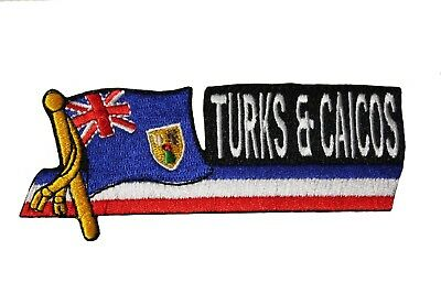SIDEKICK WORD COUNTRY FLAG IRON-ON PATCH CREST BADGE 1.5 X 4.5 IN. OLD BURMA .