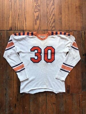 1940's Vintage Rayon Football Jersey Medium Purple Orange