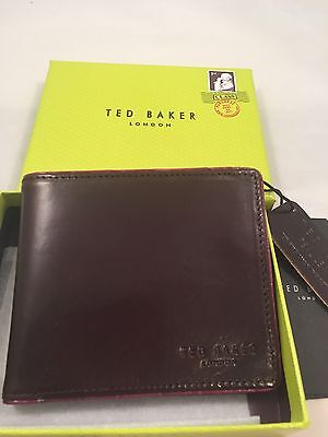 Ted Baker Piping Edge Bifold Wallet Chocolate
