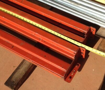 "HUSKY Pallet Rack 90"" x 4"" Beams, Teardrop Style (Lot of 4)"