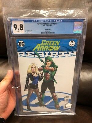 Green Arrow Rebirth #1 Variant Cover By Steve Skroce CGC 9.8 2016