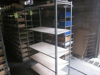 Industrial Boltless Rivet Rack Warehouse Garage Shelving Racking 48Wx24Dx84Tall