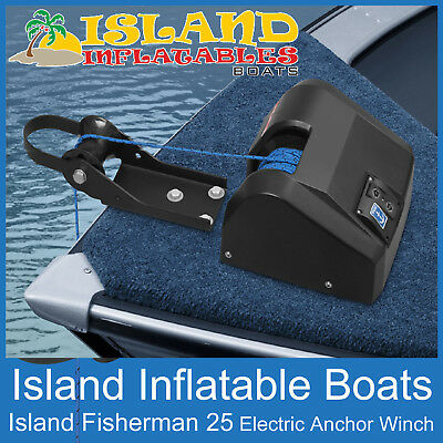 12V ANCHOR DRUM WINCH ✱ ISLAND FISHERMAN  Model 25 ✱ Suits boats up to 20ft, 6m