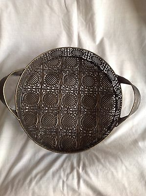 Metal morrocan style serving tray small size
