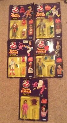 Lot Of 5 Ghostbusters Fright Features Figures Ray Egon Janine Winston Peter