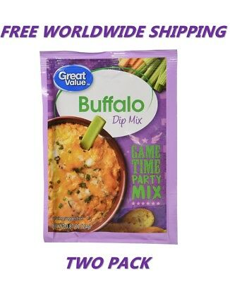 Great Value Buffalo Dip Mix PACK OF TWO FREE WORLDWIDE SHIPPING FOOD SPICES