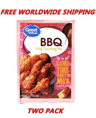 Great Value BBQ Wing Seasoning Mix PACK OF TWO FREE WORLDWIDE SHIPPING SPICES