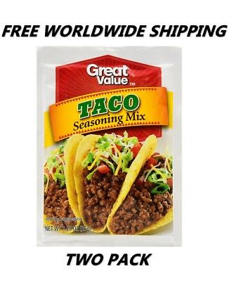 Great Value Taco Seasoning Mix PACK OF TWO FREE WORLDWIDE SHIPPING FOOD SPICES