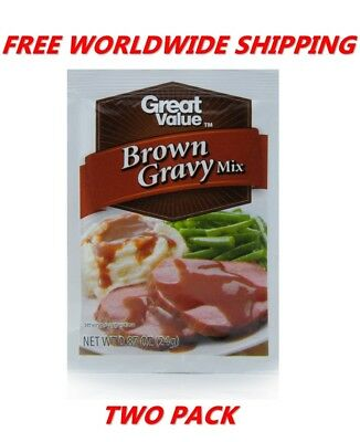 Great Value Brown Gravy Mix PACK OF TWO FREE WORLDWIDE SHIPPING FOOD SPICES