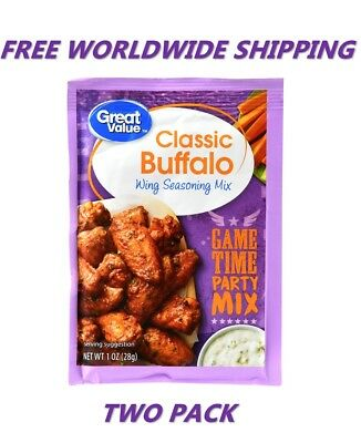 Great Value Classic Buffalo Wing Seasoning Mix PACK OF TWO FREE WORLDWIDE SHIP