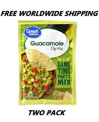Great Value Guacamole Dip Mix PACK OF TWO FREE WORLDWIDE SHIPPING FOOD SPICES