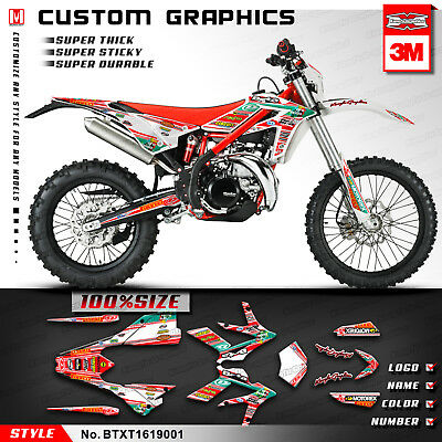 Beta 300 Xtrainer Custom Motorcycle Racing Decals Vinyl Stickers 2016 2017 Red