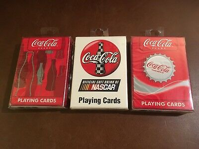 3 Bicycle Coca Cola Advertising Playing Cards (Sealed)