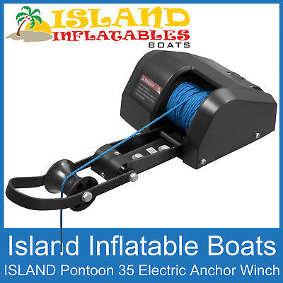 12V ANCHOR DRUM WINCH ✱ ISLAND PONTOON  Model 35 ✱ Suits boats up to 22ft, 7m