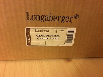 Longaberger Glass Pedestal Candle Stand New in Box