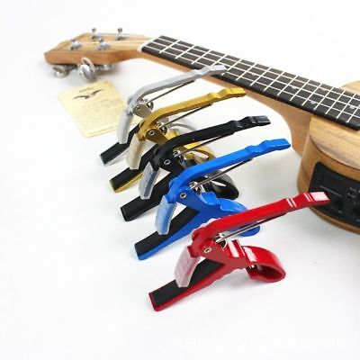 Folk Acoustic Electric Tune Quick Change Trigger Guitar Capo Key Clamp