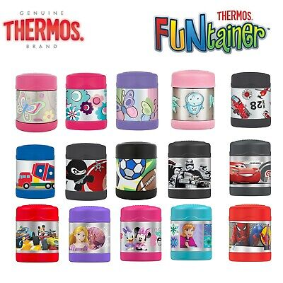 Brand New THERMOS Funtainer Kids S/Steel 290ml Vacuum Flask Insulated Food Jar