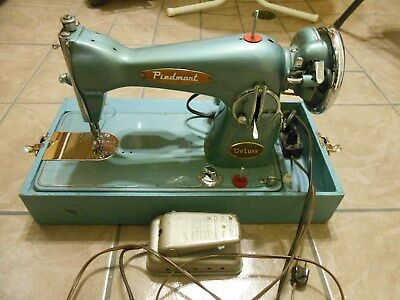 Rare Piedmont Sewing Machine Super Deluxe Chromed Motor Japan Like Singer Pfaff