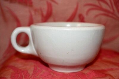 Vintage White Cafe Restaurant ware Coffee cup Mug pottery