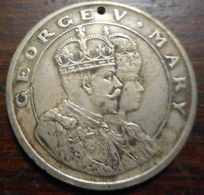1911 George & Mary Coronation - Emperor of India - Dec 1911 Durbar Medallion