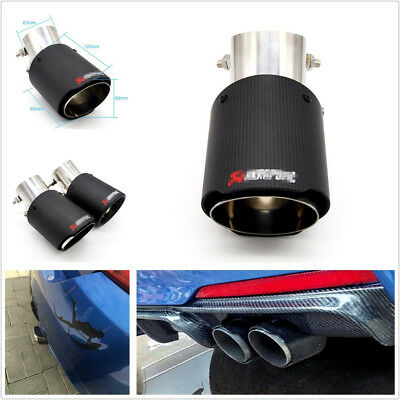 Light Weight Black Carbon Fiber Look Exhaust Car SUV Exhaust Tail Pipe Modified