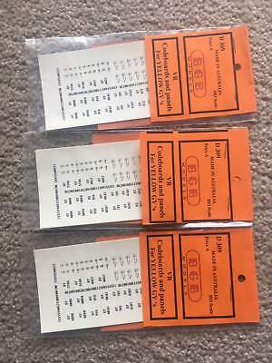 THREE Victorian Railways GY renumbering sets. THREE pack deal HO