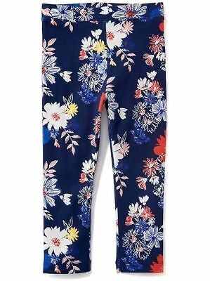 Nwt Old Navy Cute Printed Jersey Leggings Navy Floral Girls L 10-12 Fun Gift!