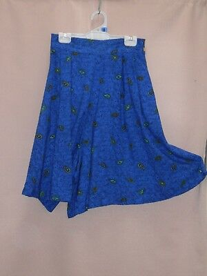 1980's Vintage American Design High Waisted Short Culottes.