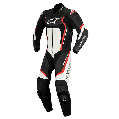 Alpinestars Motegi V2 Black / Red / White Motorcycle One Piece Suit | All Sizes