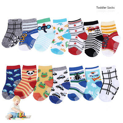 14 Pairs Anti-slip Toddler Socks Assorted Baby Kids Infants Sock For 1-3 Years