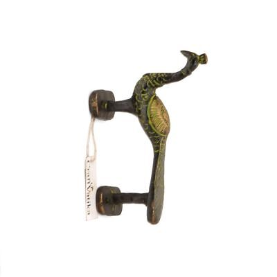 Peacock Brass Door Handle Antique Finish Art Decor Vintage Style Pull Door Knob